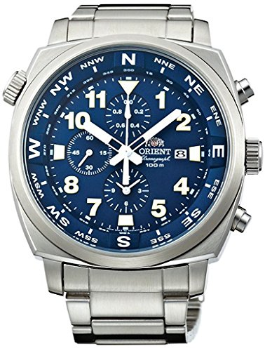 Orient Sporty Chronograph Quarz 100 m Pilot Watch Blue tt17002d
