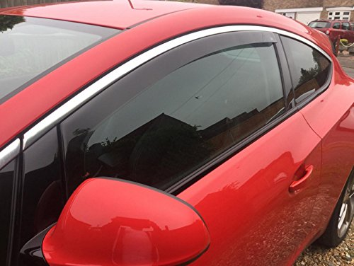 Vauxhall Astra J GTC 3 drs 2012 onwards Wind Deflectors / Rain Shields FRONT SET - INTERNAL FIT (18045)