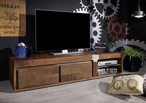TV-Board Mango 180x39x48 lackiert modern braun AMSTERDAM #01