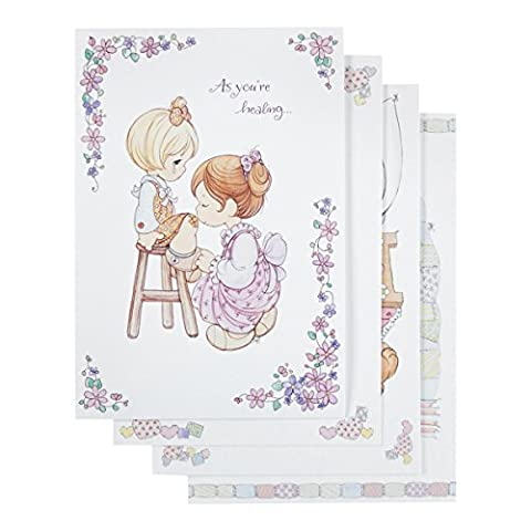 DaySpring Get Well Boxed Greeting Cards w Embossed Envelopes - Precious Moments, 12 Count (45624) by