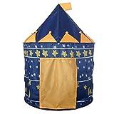 Tente de Jeu Cabane Pop-up Château de Princesse Pour Enfant à l'Intérieur ou Extérieur de Maison - Bleu