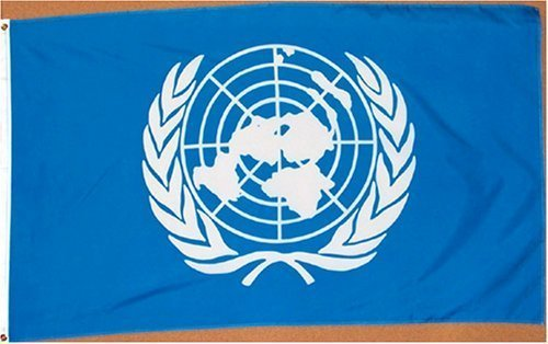 United Nations (UN) Flag - 3 foot by 5 foot Polyester (NEW) by 3x5Flag.com (Nations-flag United)