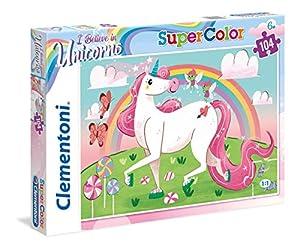 Clementoni Supercolor-Unicorno Brilliant-104Piezas Puzzle, 27109, Multicolour