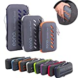 Eono Amazon Marke Essentials Mikrofaser Handtücher, klein, leicht und Ultra saugfähig - das perfekte Sporthandtuch, Reisehandtuch, Microfaser-Badetuch, Strandhandtuch, Grün - XS