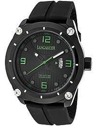 Lancaster Reloj de hombre con banda de silicona Fecha 10 bar ola0481nr/VR/Nr