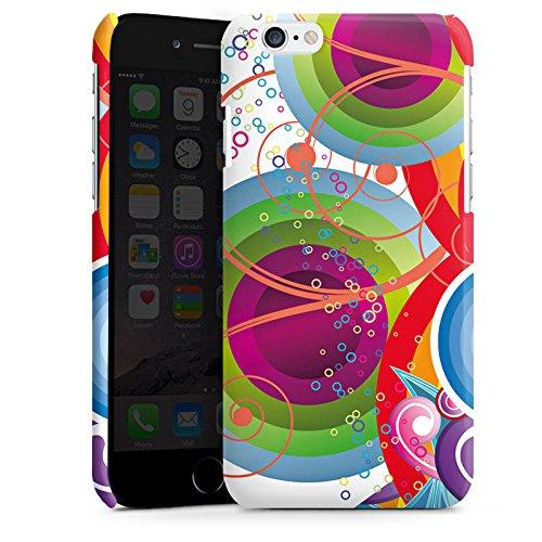 Apple iPhone 4 Housse Étui Protection Coque Bulles couleurs Vrilles Cas Premium brillant