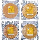 Kanidha Pizza Khakhra, Ratlami Khakhra, Manchurian Masala Khakhra and Methi Khakhra, 720 Grams (Pack of 4)