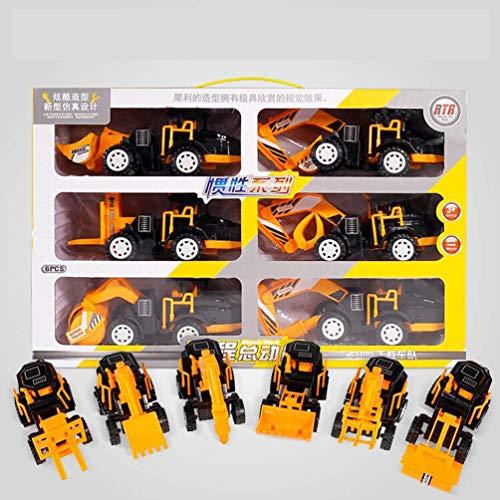 cxz-Simulationsbaggersatz, Baggerträgheitsspielzeugauto, Kinderspielzeugbagger - Baustelle Matchbox