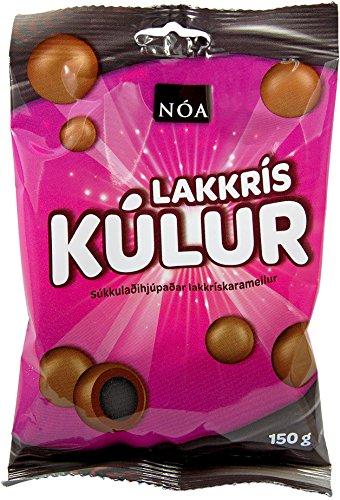 Nói Síríus Lakkrissprengjur, Lakritz ummantelt von Schokolade und Karamell (Lakritze Schokolade)