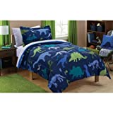 Cool Mainstays Kids Dino Roam Bed in a Bag Bedding Set, Twin by Mainstays