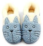 Zapatillas de Estar por Casa para Unisex Niños y Adulto Niño Niña Zapatos Pantuflas Invierno Mujer Hombre Interior Caliente Peluche Forradas Slippers