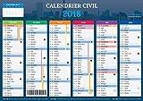 Calendrier 2018 - format A4 - Papier épais - prévu pour l'écriture....