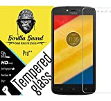 Gorilla guard's Pro quality screen guard for Moto C Plus with HD+ ultra clear edge to edge 9H hardness, UV protect & anti-smudge technology TEMPERED glass phone protector