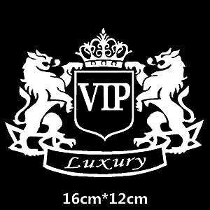 HANO CarVIP Crown kreative Abziehbilder ForAuto Tuning Styling wasserdicht 16cm * 12cm & amp; 20cm * 15cm D11: 16x12 Weiß