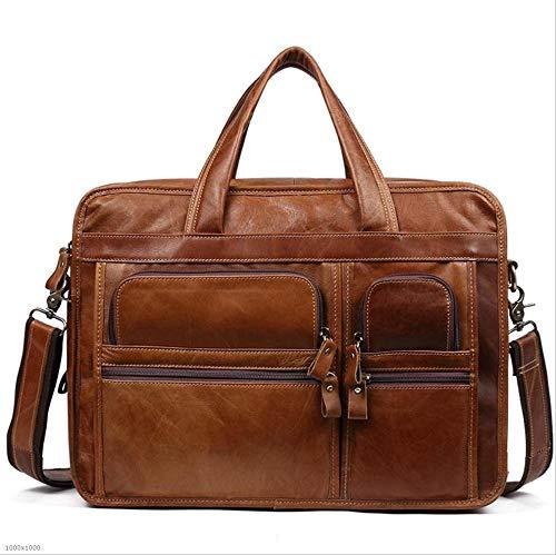 YαYα Männer Womens Tote Bag Schulter Lässige Reise Handtasche Office Business Aktentasche für 13 Zoll Tablet Laptop (Farbe : Brown)