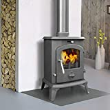Lincsfire Ingham JA061 Luxury 5.5KW Multifuel Woodburning Stove Wood Burner Log Burning Fire Fireplace Cast Iron Woodburner