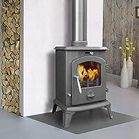 Lincsfire Ingham JA061 Luxury 5.5KW Multifuel Woodburning Stove Wood Burner Log Burning Fire Fireplace Cast Iron Woodburner