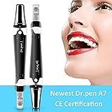 Dr.pen A7 with CE Certificate - Mysweety Electric Derma Roller Pen Système De Tampon Micro Cartouche, Rides Vergetures Traitement De Perte De Cheveux De Cicatrice D'acné Avec 2pcs 12 Épingles Needle