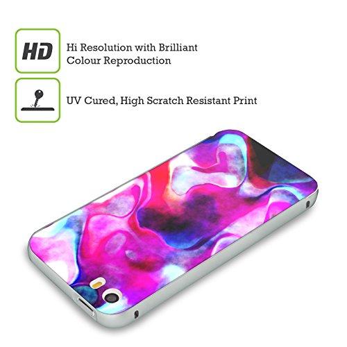 Ufficiale Shelly Bremmer Boccioli Astratto Colorato Argento Cover Contorno con Bumper in Alluminio per Apple iPhone 5 / 5s / SE Vibrante