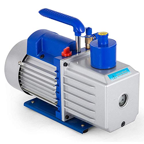 Olibelle 220V/50HZ 9CF/1HP Pompe à Vide Climatisation Voiture Electrique Air Vacuum Pump Systèmes de Réfrigération Climatisation