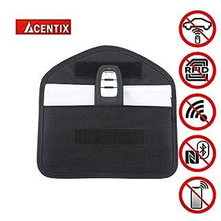 ACENTIX 19 * 10cm Faraday Bag for Car Keys, Oxford Car Key Signal Blocker For Phone, Keyless Car Key Signal Blocking Pouch, RFID Entry Protector Fob Guard-Faraday Bag Blocks RFID/NFC/WIFI/GSM/LTE
