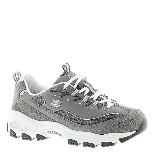 Skechers D'Lites Me Time, Baskets Basses Femme Grey/White