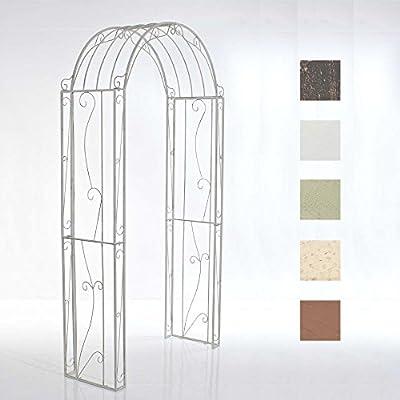 CLP Metall-Rosenbogen SOFIA, Eisen pulverbeschichtet, Höhe ca 240 cm, Breite ca 120 cm, Tiefe ca 45 cm von CLP - Du und dein Garten