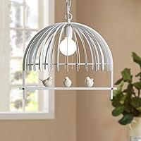 Retro lámpara colgante pájaro jaula lámpara vintage techo Hierro creativo blancas negro iluminación decorativa para salón