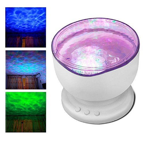 Multicolor Ocean Wave Light Projector Nightlight With Mini Music Player For Living Room And Bedroom Novelty Baby Lamp To Adopt Advanced Technology Access Control Kits Security & Protection