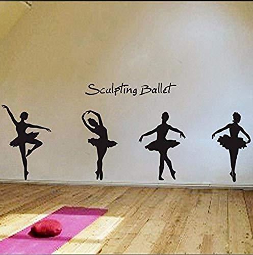 Fushoulu Wandaufkleber Charming Ballett Tanz Ballerinas Sterne Benutzerdefinierte Vinyl Wandtattoos Sagen Zitat Kunst Aufkleber Kindergarten Kinder Mädchen