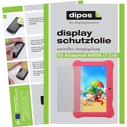 dipos Alldaymall A88SK 17,8 cm (7 Zoll) Schutzfolie (2 Stück) - Antireflex Premium Folie matt