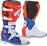 FORMA Terrain TX Homologuee Motorcycle Boots, Orange/White/Blue - Best Reviews Guide