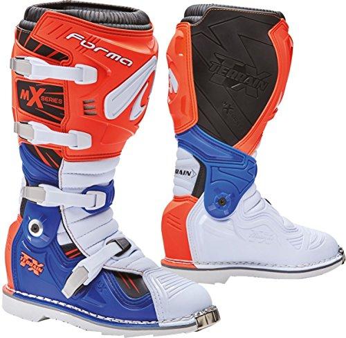 FORMA Stivali Moto Terreno TX homologuee Questo Arancione/Bianco/Blu