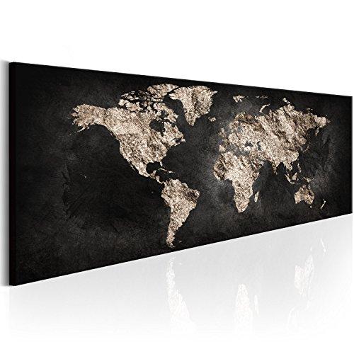 Murando quadro mappamondo 120x40 cm - xxl formato - quadro su fliselina - stampa in qualita fotografica - mappa mondo - k-a-0296-b-a