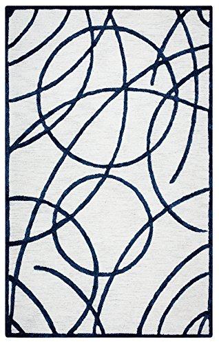 Rizzy Home monme165aow062608Monroe Kollektion handgetuftet Bereich Teppich, 2'15,2cm X 8', Creme/schwarz - 8' Creme Bereich Teppich