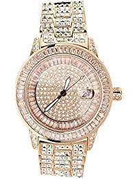 High Quality FULL ICED OUT CZ Watch - ROYAL rose gold
