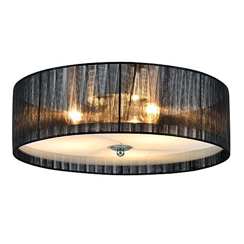 Lüster Deckenleuchte / Deckenlampe - Helena - von [lux.pro] - Modernes Design: Kronleuchter aus Organza & Kunst-Stoff weiß / schwarz - Ø 40 cm Leuchte - 3 x E27 Sockel - für Wohnzimmer & Schlafzimmer