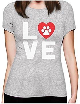 Amanti degli animali, motivo zampe di cane, Dogs Love My Best Friend-Maglietta da donna