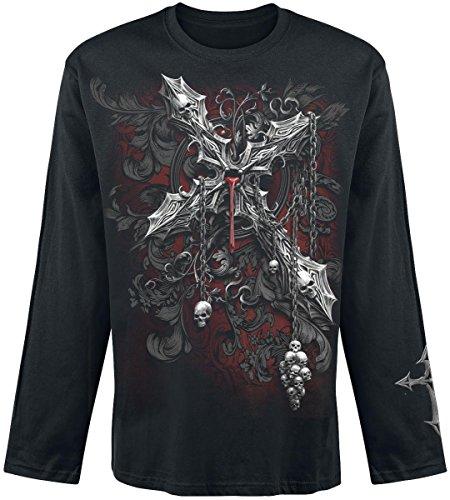 Cross Long Sleeve Shirt Schwarz (Spiral Cross of Darkness Longsleeve schwarz XL)