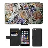 PU Leder Wallet Case Folio Schutzhülle // M00154398 Geld-Währung Finanzen Reichtum // Apple iPhone 6 PLUS 5.5