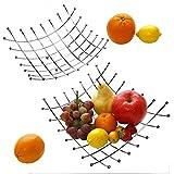Set of 2 Kittlee Square Wire Fruit Baske...