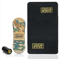 Trickboard Balance Board - SET Less Talk - All Season SURF/SKATE/SNOW + Roller + Teppich - Balance training