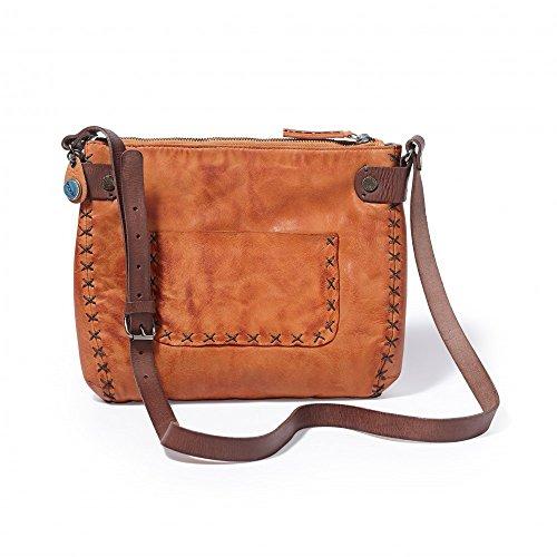 Noosa Handtasche Medium Bag Stitches Cognac