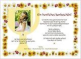 Moderne Dankeschön Karten Kommunion Mädchen - coole originelle - mit Foto und Wunschtext - 50 Stück, 21 x 14,8 cm groß