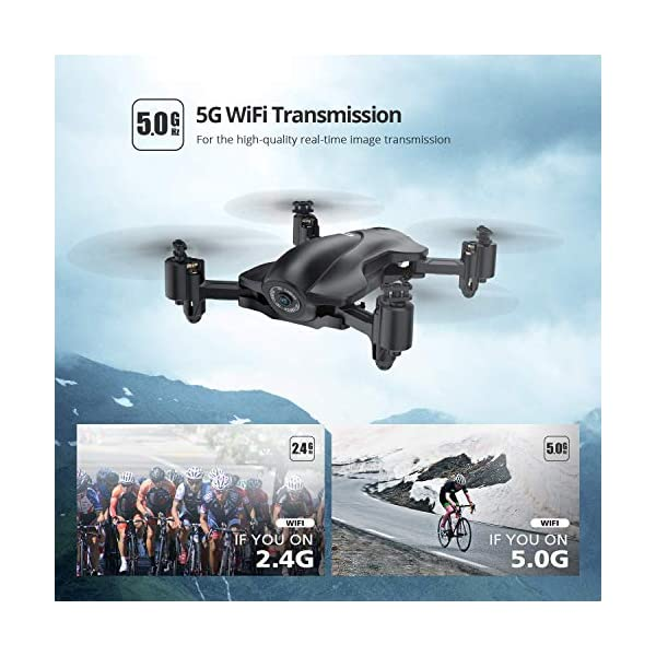 Holy Stone HS165 GPS Drone with 2K HD Camera for Adults, Foldable Drone for Beginners, FPV RC Quadcopter with GPS Return Home, Follow Me, Altitude Hold and 5G WiFi Transmission Live Video 2