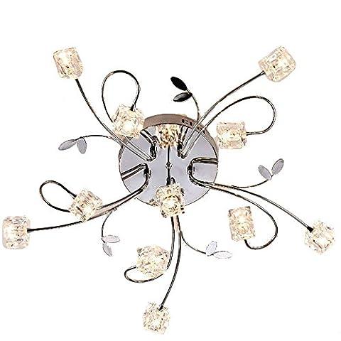 Dinggu™ Plafonnier encastré graduable moderne avec 11Ampoules à LED et télécommande inclus