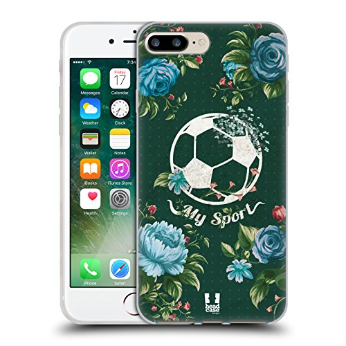 Head Case Designs Fleur De Volley Florals Sportif Étui Coque en Gel molle pour Apple iPhone 5 / 5s / SE Football Rose