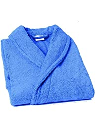 Home Basic - Albornoz con cuello tipo smoking, talla XXL, color mar