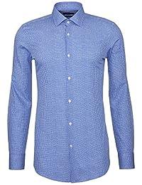 HUGO BOSS - Chemises - chemise slim fit jenno bleu