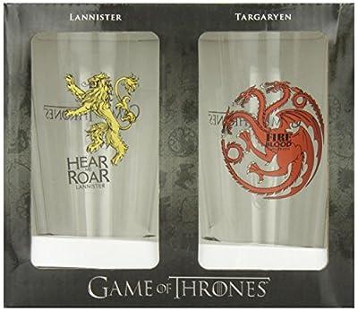 Dark Horse Deluxe Game of Thrones Pint Glass Lannister / Targaryen